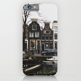 Amsterdam Boats iPhone Case