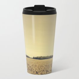 Lonely Field in Brown Travel Mug