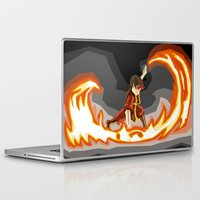 avatar the last airbender Laptop & iPad Skins featuring Avatar- Fire by itsamoose