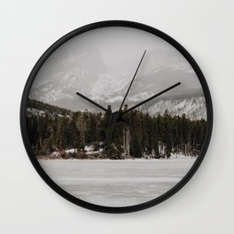 Over the Frozen Lake // Rocky Mountain Wall Clock