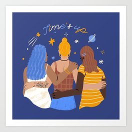 TIME'S UP by Jenny Chang-Rodriguez Art Print
