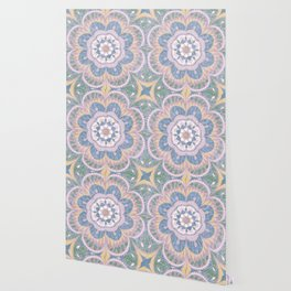 Faded Desert Flower Mandala Wallpaper
