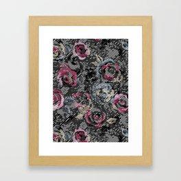 Graphic Rose Framed Art Print