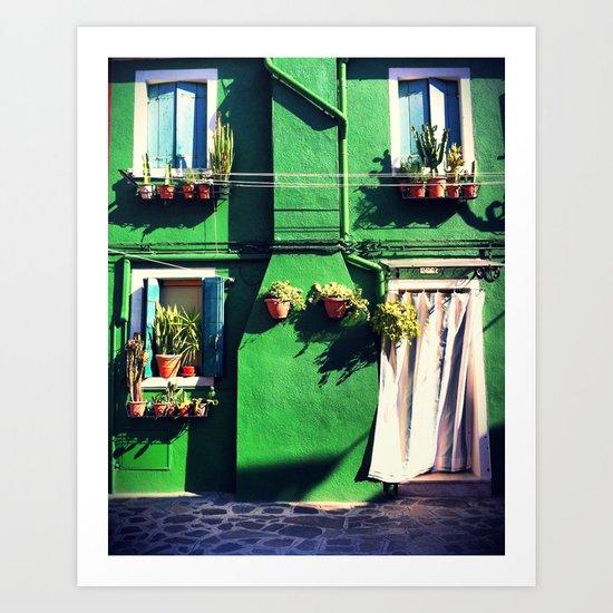 A Green life Art Print