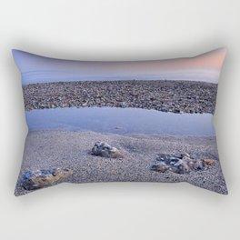 Calm at the beach. Serenity sea at sunset Rectangular Pillow