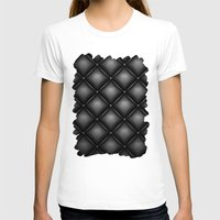 leather T-shirts featuring BLACK LEATHER by Smart Friend