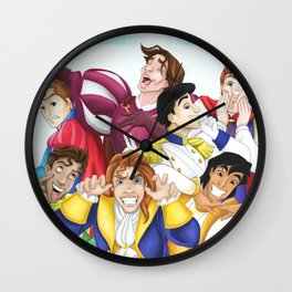 Silly Princes Wall Clock