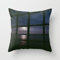 liverpool Throw Pillows featuring Liverpool Sunset by Chloe Gibb