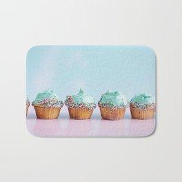 Blue Cupcakes Bath Mat