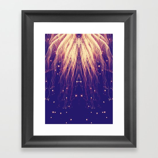 Fire Hair Framed Art Print
