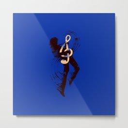 Solo (Blue) Metal Print