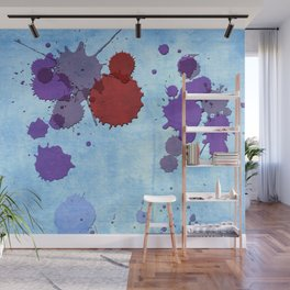 Abstract Indian Sky Blue Splash Wall Mural