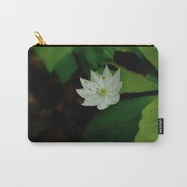 Wild Strawberry Blossom Carry-All Pouch