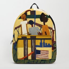 African American Masterpiece 'Ferry' NYC by William Johnson Backpack