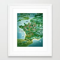 france Framed Art Prints featuring France by Steebz