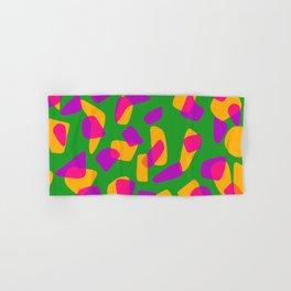 happy pink shapes Hand & Bath Towel