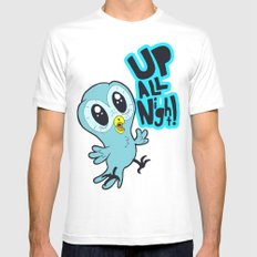 Up All Night!  MEDIUM Mens Fitted Tee White