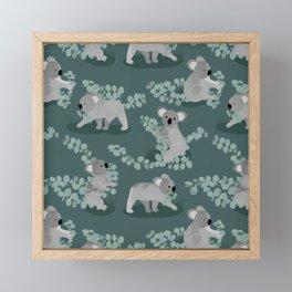 Koala Eucalyptus Hunt Framed Mini Art Print