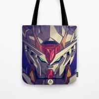 gundam Tote Bags featuring Gundam Fan ART by Krayvn Arts