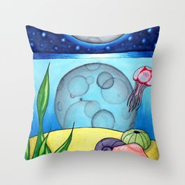 Underwater Reflections Throw Pillow