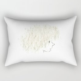 Curly hair Rectangular Pillow