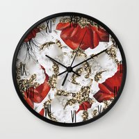 roman Wall Clocks featuring Roman Collage by Eleaxart