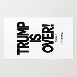 TRUMP IS OVER! (Black) Rug