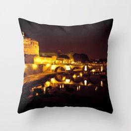 Castel sant'angelo Roma Throw Pillow