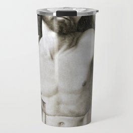 Dead Christ Between Two Angels by Giovanni Bellini Travel Mug