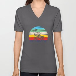Motocross Girl Motocross Machine Motorcycle Unisex V-Neck