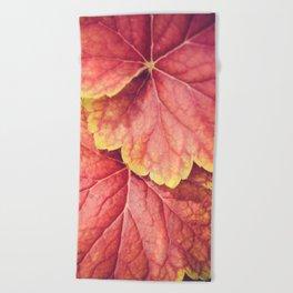 Two Leaves Beach Towel