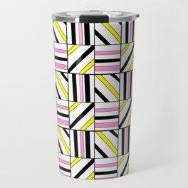symetric tartan and gingham 2 -vichy, gingham,strip,square,geometric, sober,tartan Travel Mug
