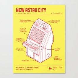 ARCADE CAB - NEW ASTRO CITY Canvas Print