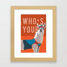 Who's Your Llama Framed Art Print