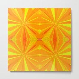 230 - Abstract orange design Metal Print