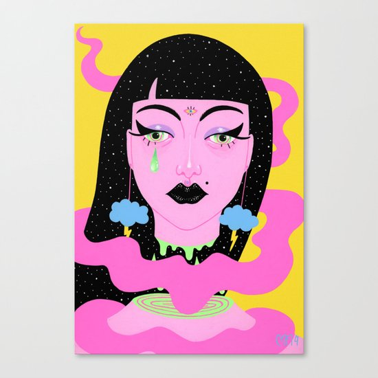 Weather Goddess Canvas Print