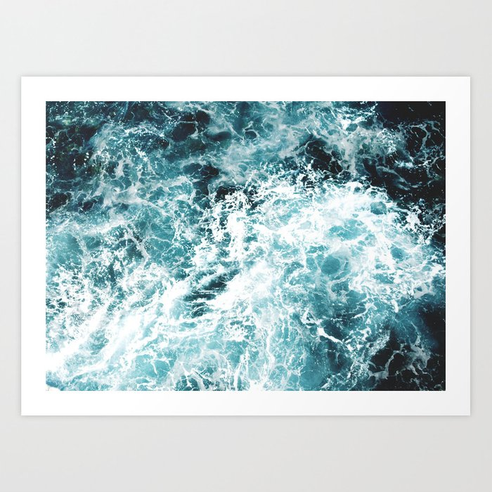 Sunday's Society6 | Sea wave art print
