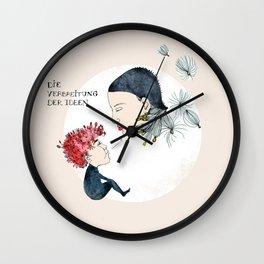 Spreading Ideas Wall Clock