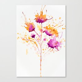 Blot Flowers Canvas Print