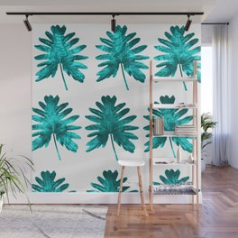 Electric Leaves Wall Mural