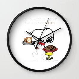 snoopy coffe cake Wall Clock