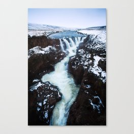 Waterfall in Iceland Print (RR 267) Canvas Print