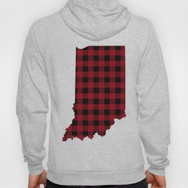 Indiana - Buffalo Plaid Hoody