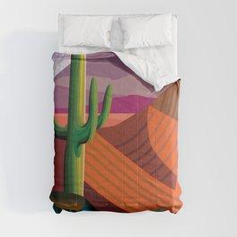 Thunderhead Builds in Arizona Desert Comforters