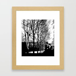 Town Trees Framed Art Print