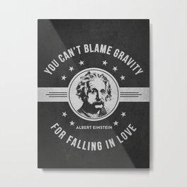 Albert Einstein - Dark Metal Print
