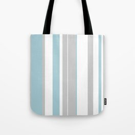 light gray and blue stripes Tote Bag