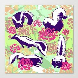 Skunk Flower Fields Canvas Print