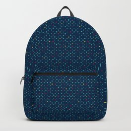 LOTS OF DOTS / prussian blue / turquoise green / deep red / yellow Backpack