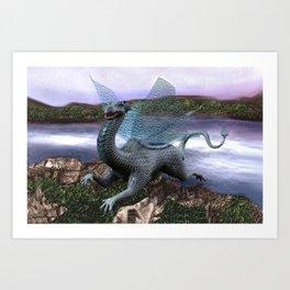 Fairytale Dragon Art Print